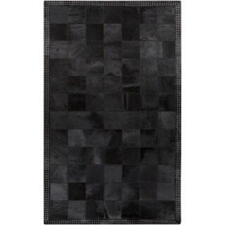 Handmade Aron Contemporary Leather Rug (8' x 10')