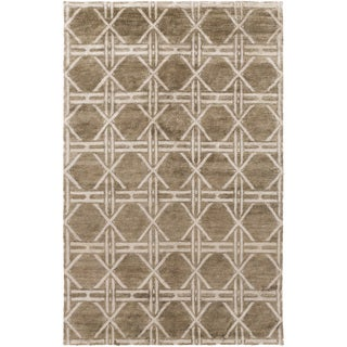 Hand-Knotted Mia Contemporary Bamboo Rug (8' x 11')