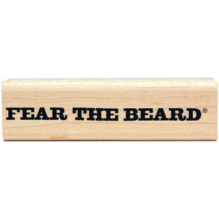 "Duck Commander Mounted Stamp 1""X3""X.9""-Fear The Beard"
