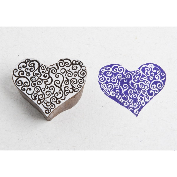 Blockwallah Block Stamp-Spiral Heart