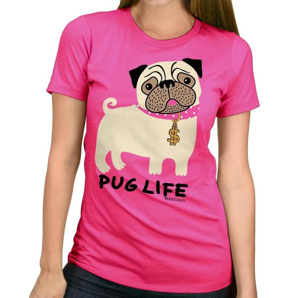 David & Goliath Women's 'Pug Life' Graphic Tee T-shirt