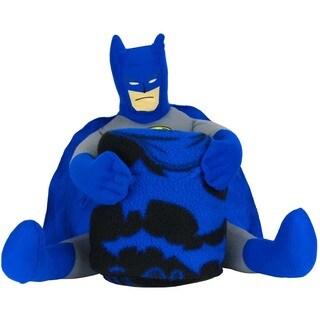 Plush Dark Knight Batman Figure Pillow and Fleece Blanket Set