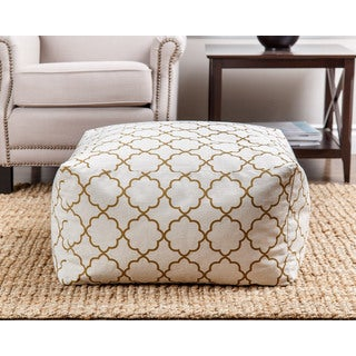 ABBYSON LIVING Milana Moroccan Gold Lattice 27-inch Pouf
