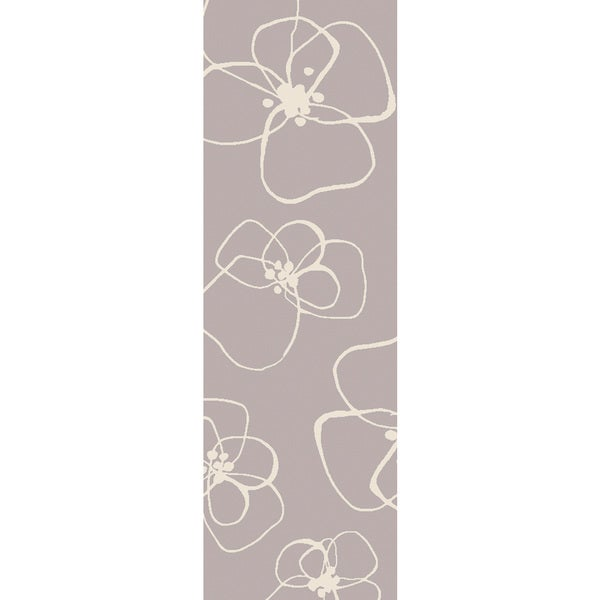 Lotta Jansdotter :Hand-Woven Donnie Floral Wool Rug (2'6 x 8')