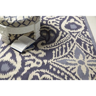 KD Spain Hand-woven Cailyn Ikat Reversible Rug (5' x 8')