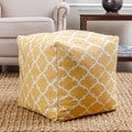 ABBYSON LIVING Milana Moroccan Yellow Lattice 21-inch Pouf