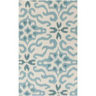 Kate Spain :Hand-Woven Bettie Ikat Reversible Rug (2' x 3')