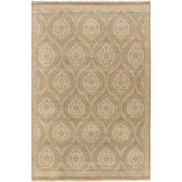 Hand-Knotted Jeanette Floral Wool Rug (8' x 10')
