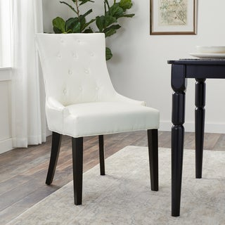 ABBYSON LIVING Napa Ivory Leather Dining Chair