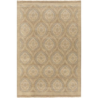 Hand-Knotted Jeanette Floral Wool Rug (9' x 12')