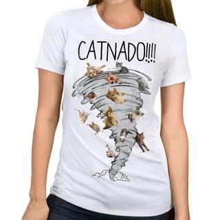 David & Goliath Women's 'Catnado' Cats Graphic Tee T-shirt