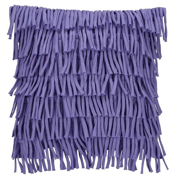 Vue Waltz Square Fringe 14-inch Decorative Throw Pillow