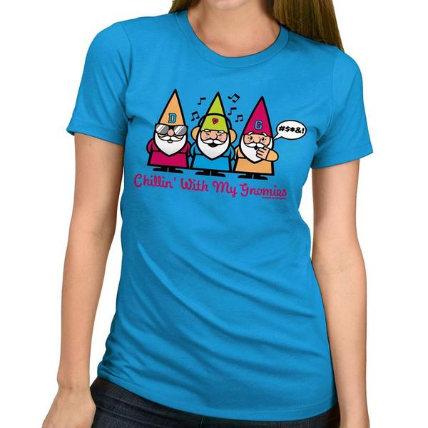 David & Goliath Women's 'Chillin' Gnomies' Graphic Tee T-shirt