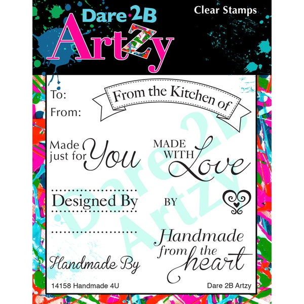 "Dare 2B Artzy Clear Stamps 4""X4"" Sheet-Handmade 4u"