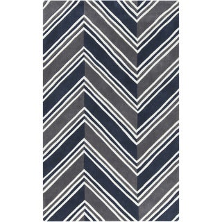 Hand-Tufted Orville Geometric Pattern Acrylic Rug (8' x 10')