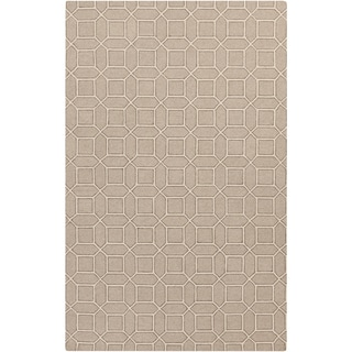 Hand-Hooked Lucile Geometric Wool Rug (8' x 10')