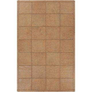 Hand-Crafted Mariah Animal Leather Rug (8' x 10')