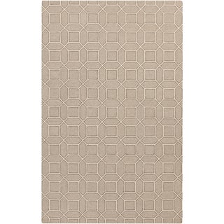 Hand-Hooked Lucile Geometric Wool Rug (5' x 7'6)