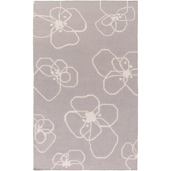 Lotta Jansdotter :Hand-Woven Donnie Floral Wool Rug (8' x 11')