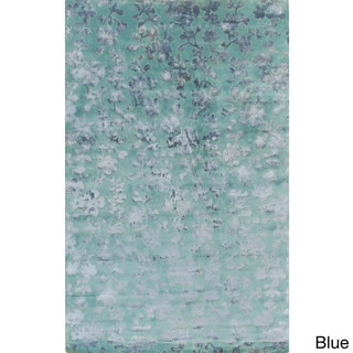 Candice Olson :Hand-Knotted Rodney Floral Pattern Rug (9' x 13')