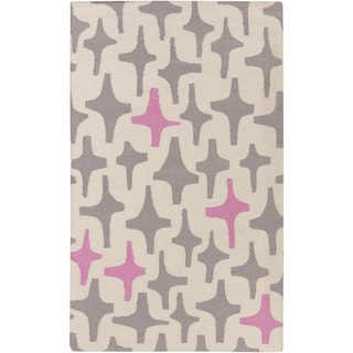 Lotta Jansdotter :Hand-Woven Dianne Abstract Wool Rug (3'3 x 5'3)