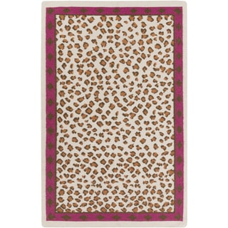 Florence de Dampierre :Hand-Woven Danika Animal Wool Rug (2' x 3')