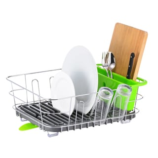 Multi-Function Dish Rack with Large Silverware Holder