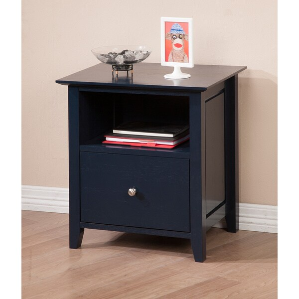 Cityscape Navy Bottom Drawer Nightstand
