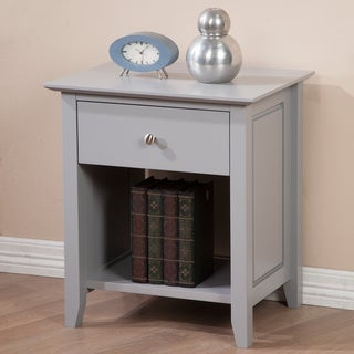 Cityscape Grey Top Drawer Nightstand