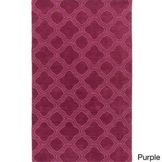 Handmade Harrell Casual Style Wool Rug (8' x 11')