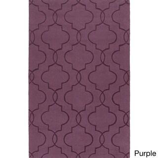Handmade Jenna Casual Style Wool Rug (8' x 11')