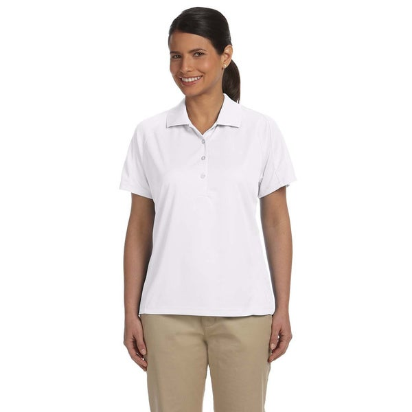 Ladies' 3.8 oz. White Polytech Mesh Insert Polo - Size 2XL (As Is Item)
