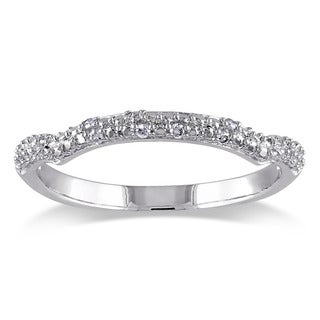 Haylee Jewels Sterling Silver Diamond Accent Curved Wedding Band