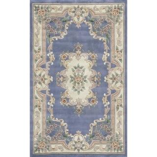 Heritage N802-15 Blue Floral Area Rug (8' x 11')