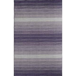 Skylar 5618 Purple Stripe Area Rug (8' x 10')