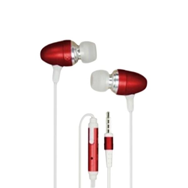 INSTEN 3.5mm Universal Bullet Style Stereo In ear Handsfree Earphone