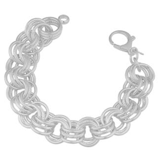 Sterling Silver Multi-strand Circle Link Bracelet