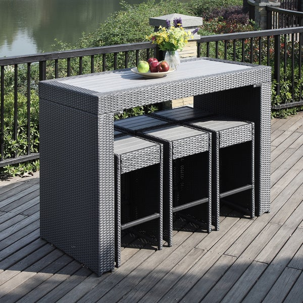Portfolio Aldrich Grey 7 Piece Indoor Outdoor Resin Wicker