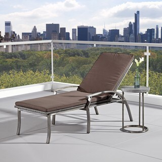 Home Styles Urban Outdoor Chaise Lounge Chair/ Accent Table Set