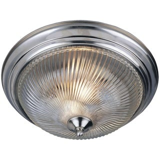 Clear Shade 3-light Nickel Essentials 582x Flush Mount Light