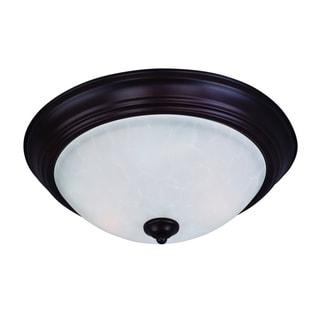 Maxim Ice Shade 3-light Bronze Essentials 584x Flush Mount Light