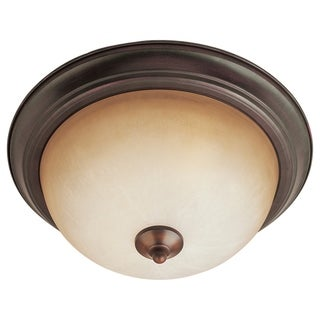 Bronze Essentials Wilshire Shade 2-light 584x Flush Mount Light