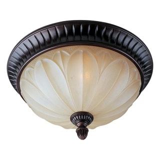 Wilshire Shade 2-light Bronze Allentown Flush Mount Light
