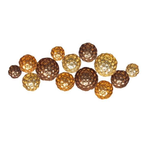 Aurelle Home 'Gold Circles' Metal Art