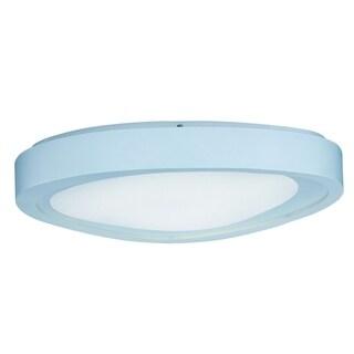 1-light White Shade White Nebula LED Flush Mount Light