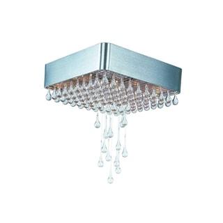 Clear Shade 9-light Drops Flush Mount Light