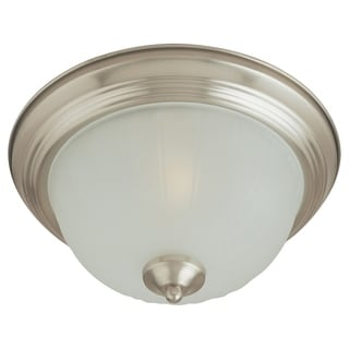 Frosted Shade 3-light Nickel Essentials 583x Flush Mount Light
