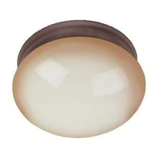 Maxim Wilshire Shade 1-light Bronze Essentials 588x Flush Mount Light