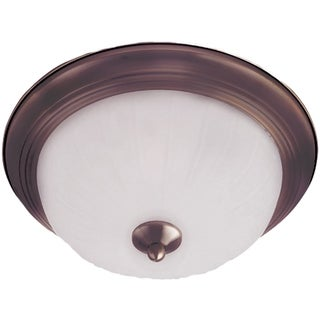 Frosted Shade 1-light Bronze Essentials 583x Flush Mount Light