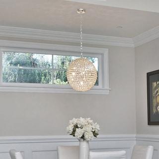 Beveled Crystal Shade 23-light Chrome Jewel Flush Mount Light